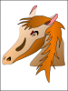 free vector Horse Head clip art