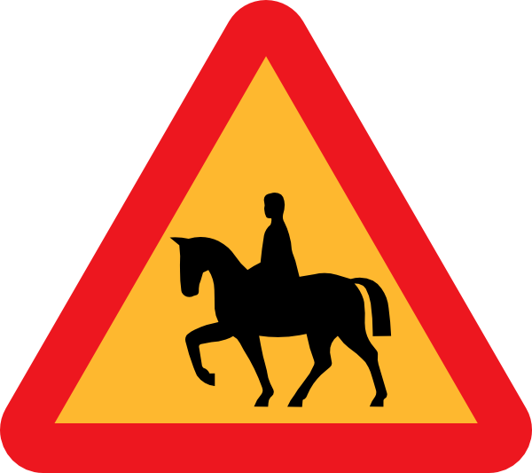 free vector Horse Riders Road Sign clip art