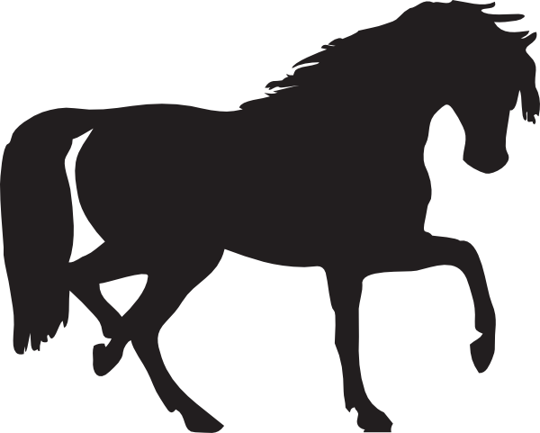 horse silhouette clip art free vector 4vector rh 4vector com Weswtern Horses of Black and White Clip Art Cartoon Horse Clip Art of Black and White