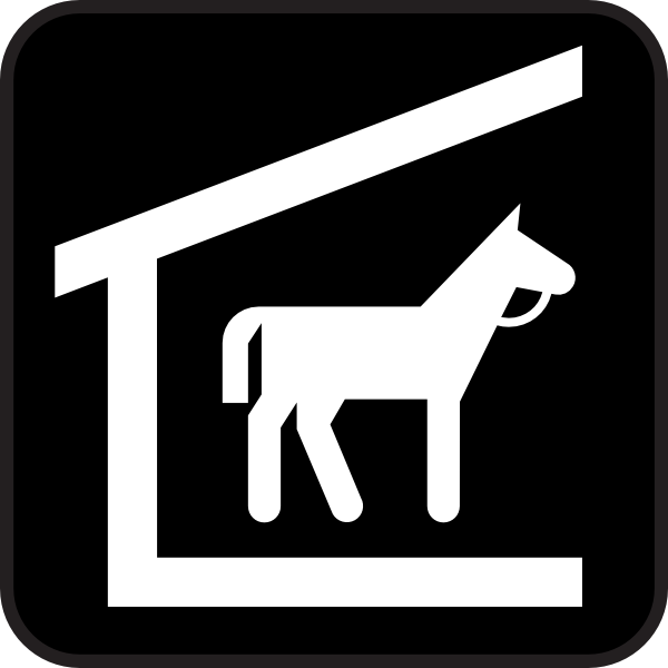 free vector Horse Stable clip art 118666