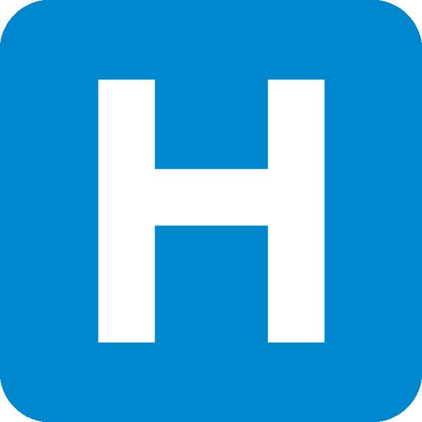 free vector Hospital Road Sign clip art