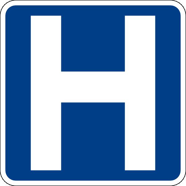 hospital sign clip art free vector 4vector rh 4vector com hospital patient clipart free Free Hospital Cartoons