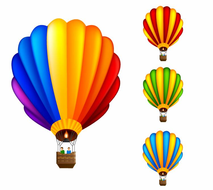 free vector Hot air balloon
