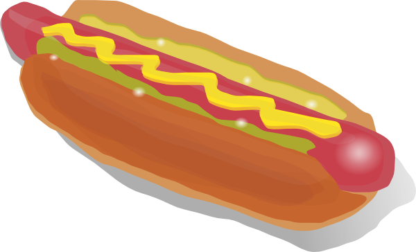 hot dog sandwich clip art free vector 4vector rh 4vector com free hot dog clipart images free clipart hot dog