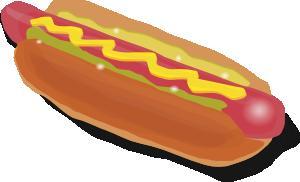 hot dog sandwich clip art free vector 4vector rh 4vector com hot dogs clipart free free cartoon hot dog clipart