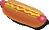 free vector Hot Dog Sandwich  clip art