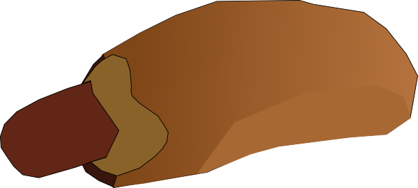 free vector Hot Dog Sandwitch clip art