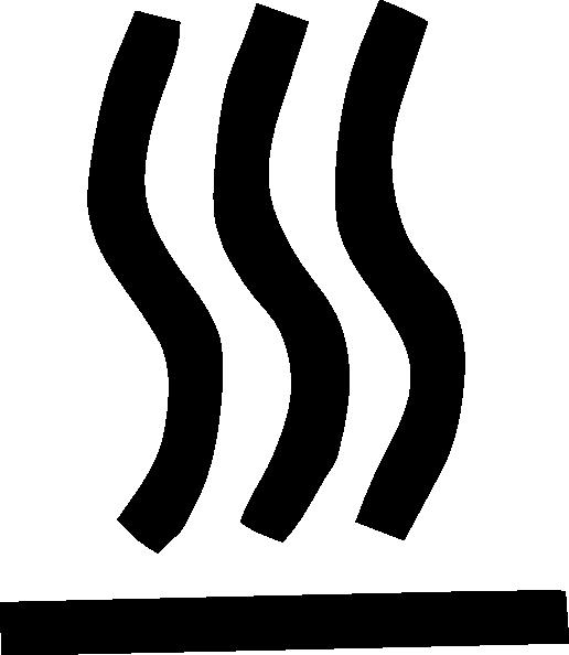 free vector Hot Surface Symbol clip art