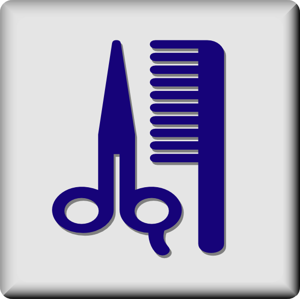free vector Hotel Icon Barber Or Hair Dresser clip art
