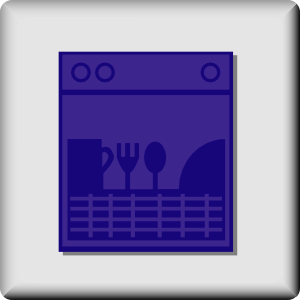 free vector Hotel Icon Dishwasher clip art
