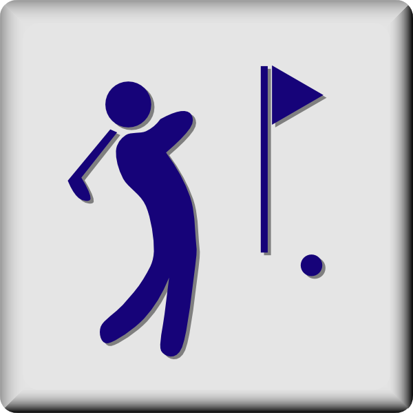 free vector Hotel Icon Golf Course clip art