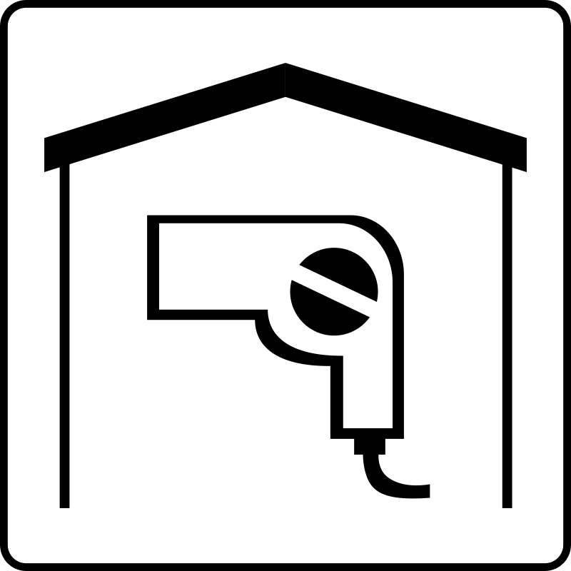 free vector Hotel Icon Has Hair Dryer In Room