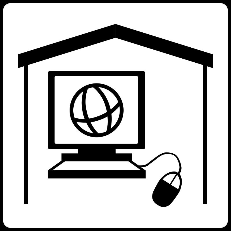 free vector Hotel Icon Has Internet In Room