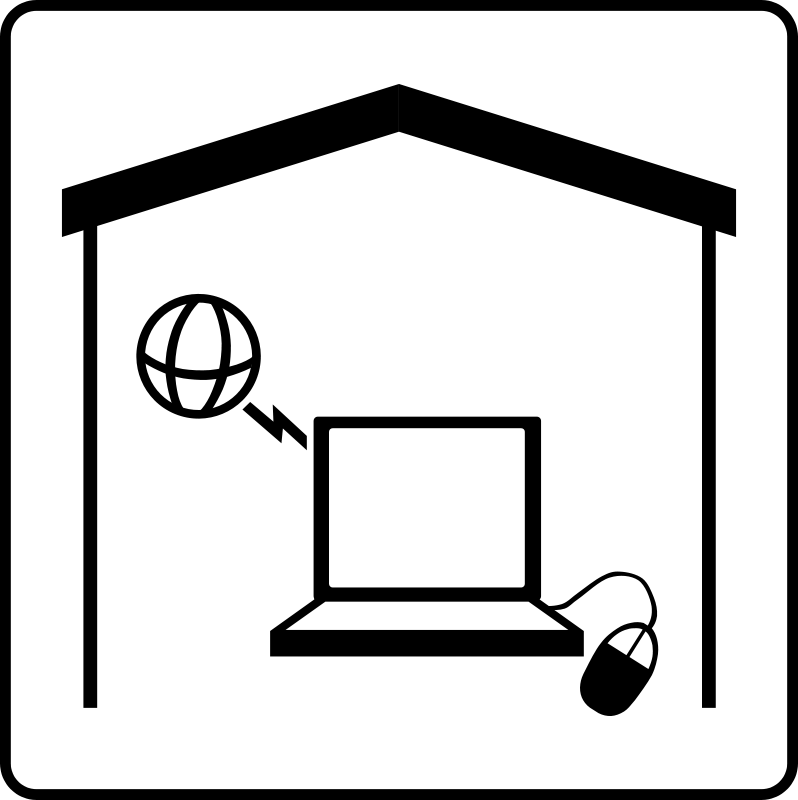 free vector Hotel Icon Has Internet In Room
