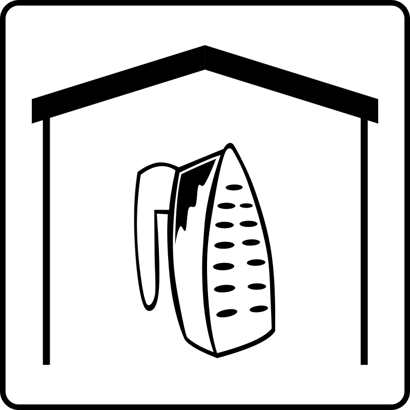 free vector Hotel Icon Has Iron In Room