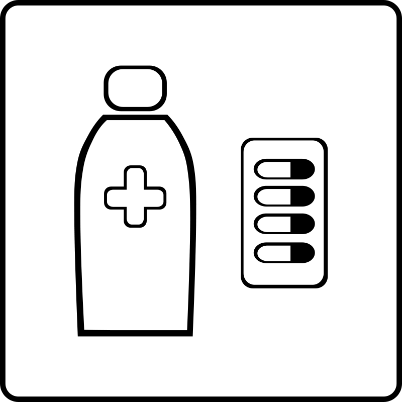 free vector Hotel Icon Has Pharmacy