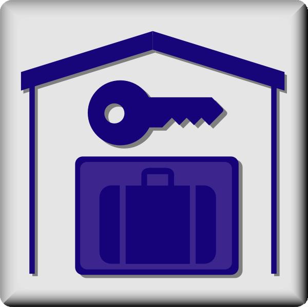 free vector Hotel Icon In Room Baggage Locker clip art
