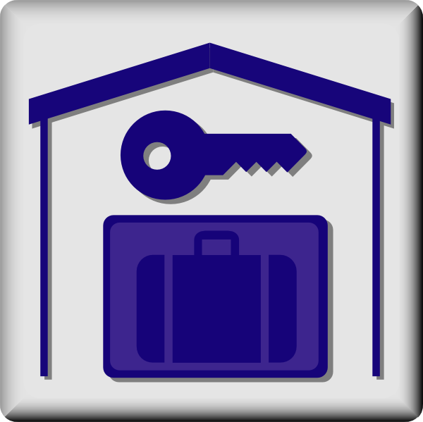 free vector Hotel Icon In Room Baggage Locker clip art