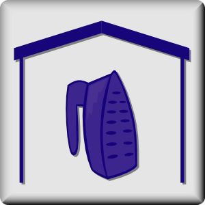 free vector Hotel Icon In Room Iron clip art