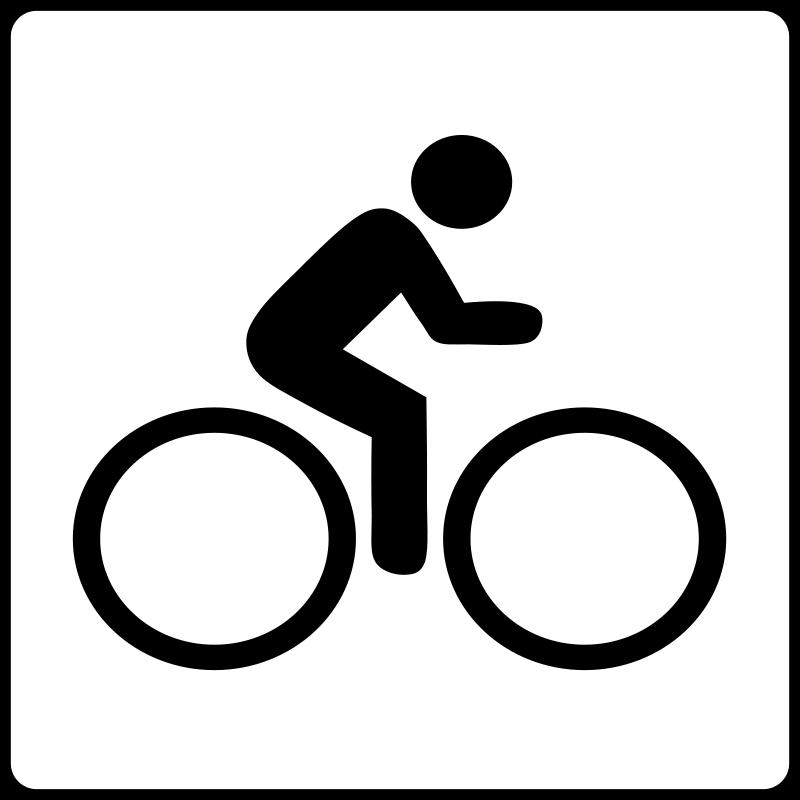 free vector Hotel Icon Near Bike Route