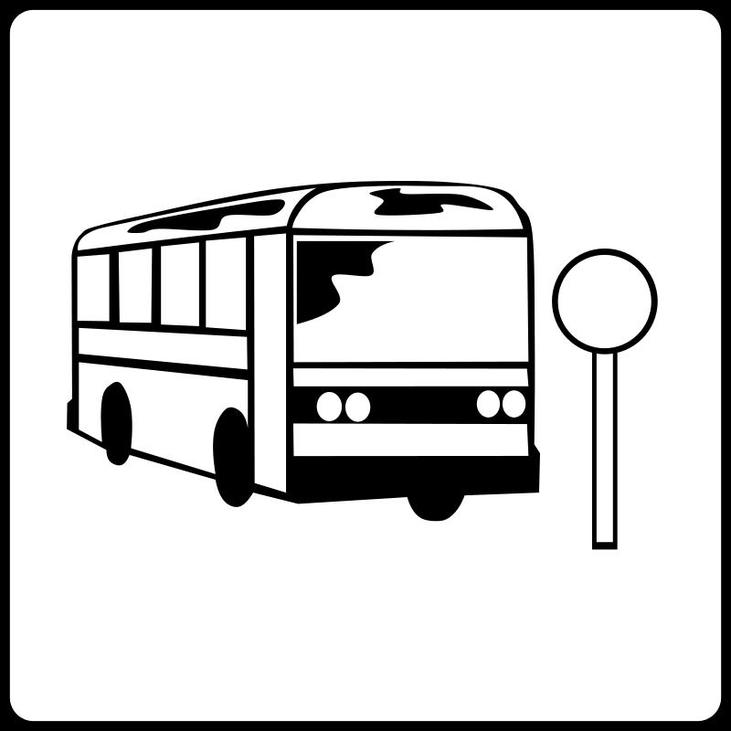free vector Hotel Icon Near Bus Stop