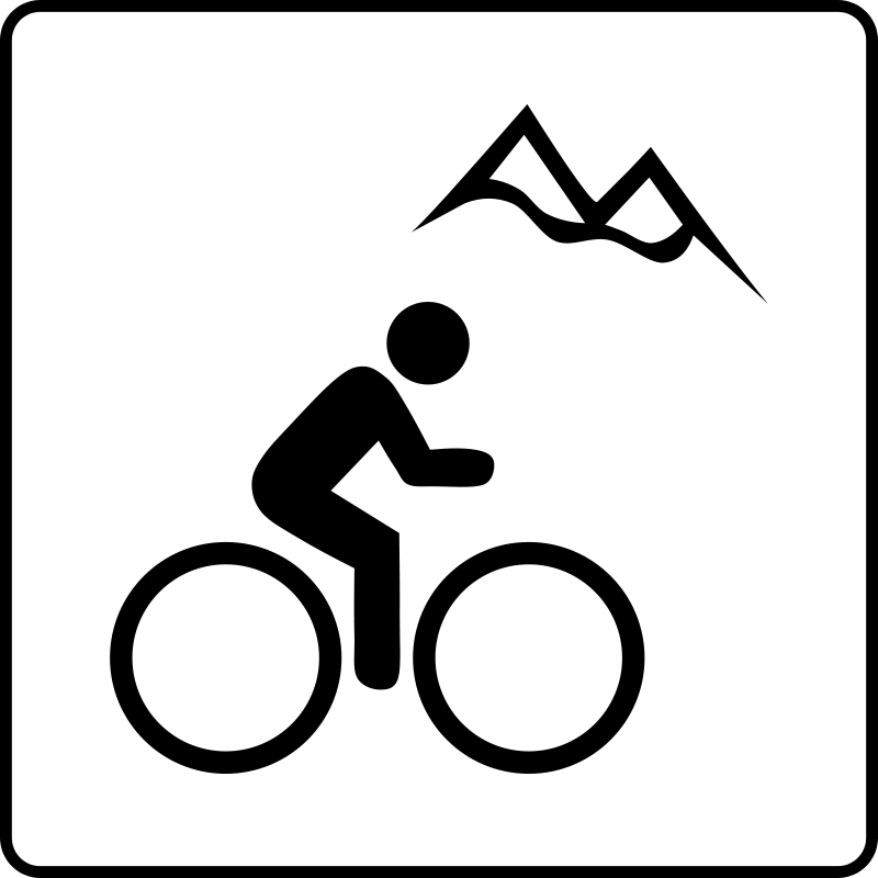 free vector Hotel Icon Near Mountain Biking
