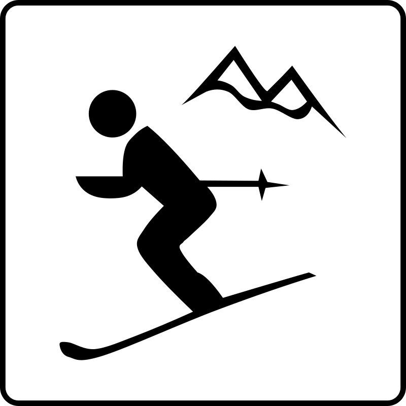 free vector Hotel Icon Near Ski Area