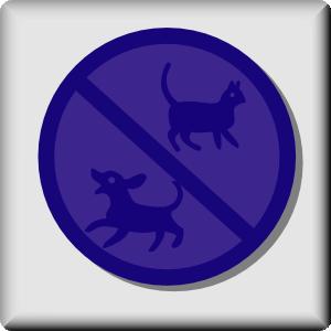 free vector Hotel Icon No Pets clip art