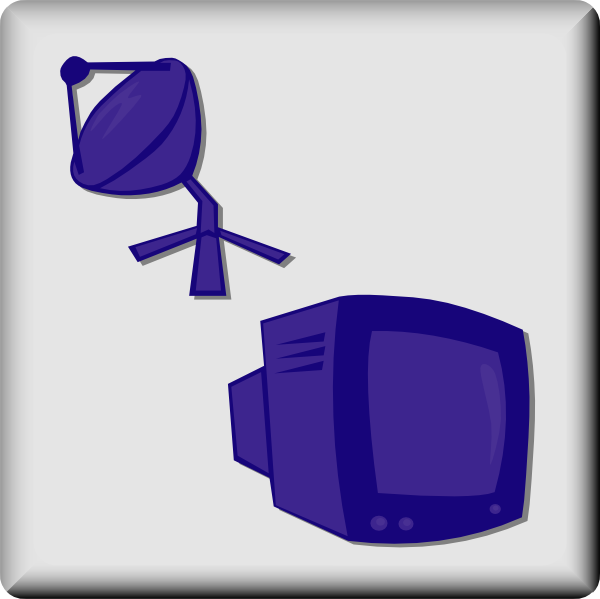 free vector Hotel Icon Satellite Tv clip art