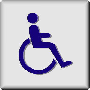 free vector Hotel Icon Wheelchair Access clip art