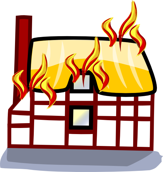 free vector House Fire Insurance clip art