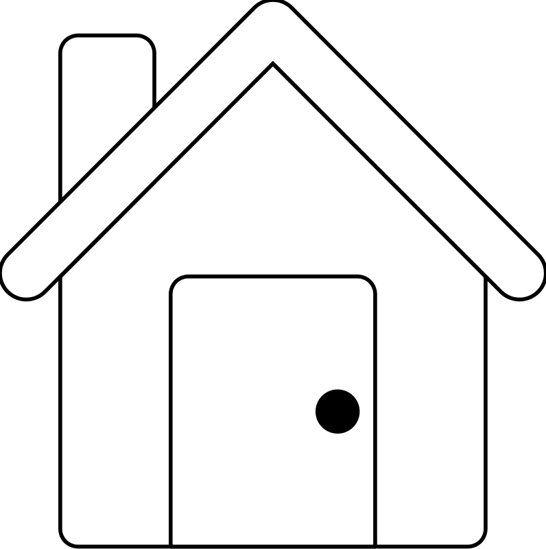 free vector House Line Art