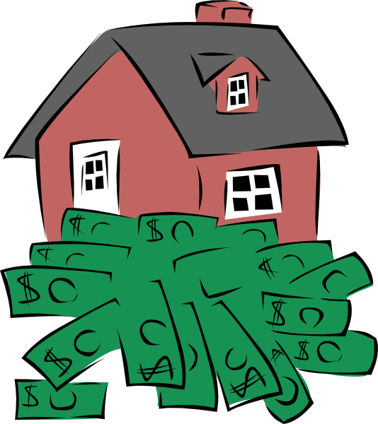 house sitting on a pile of money clip art free vector 4vector rh 4vector com big pile of money clipart