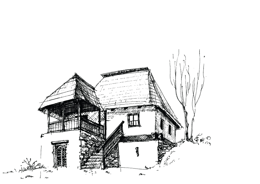 free vector House sketch vector 3
