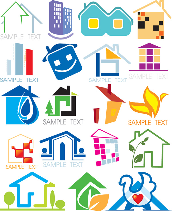 free vector House with ecological theme icon vector