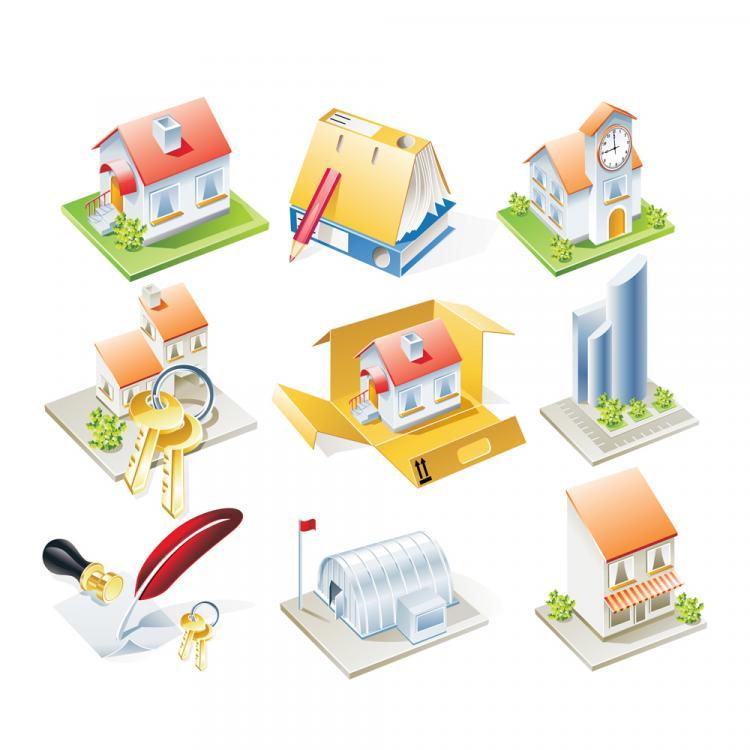 free vector Housing model vector