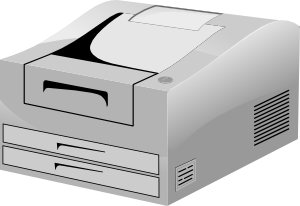 free vector Hp Laser Printer clip art