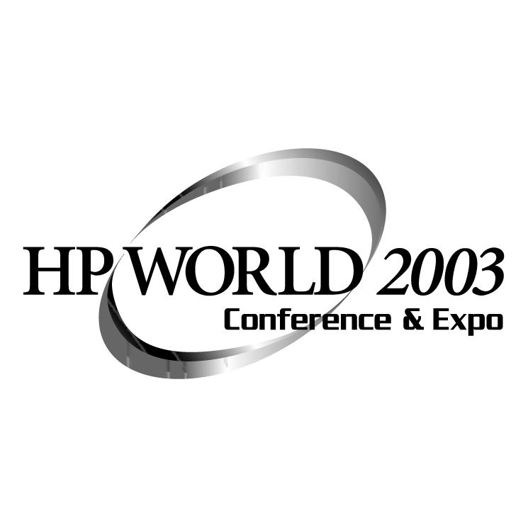 free vector Hp world 2003