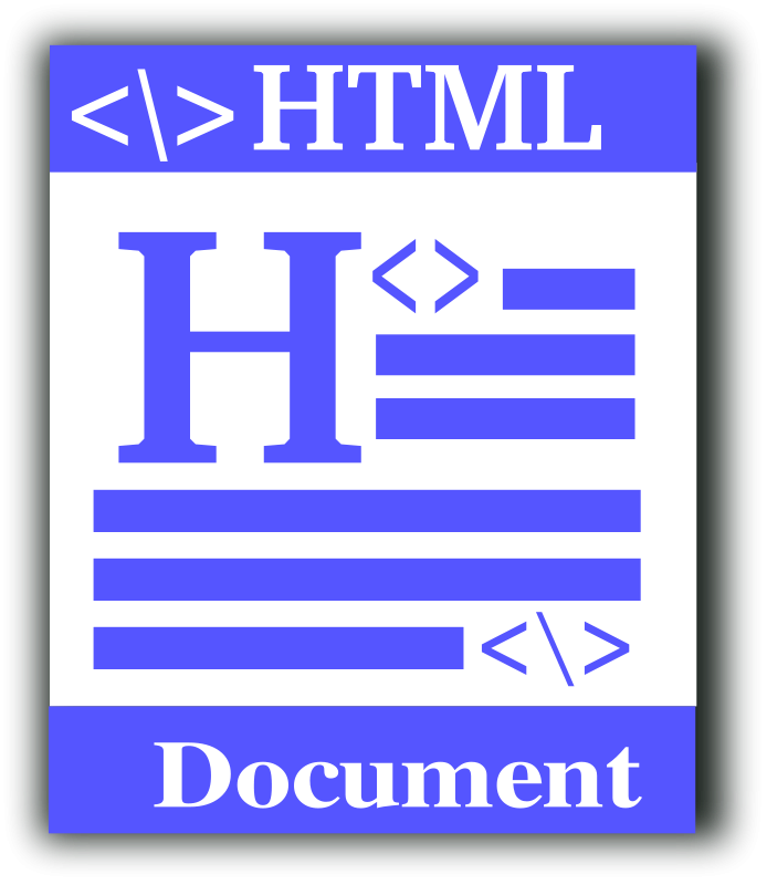 free vector HTML file icon