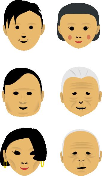 free vector Human Faces clip art