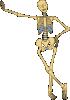 free vector Human Skeleton Outline clip art