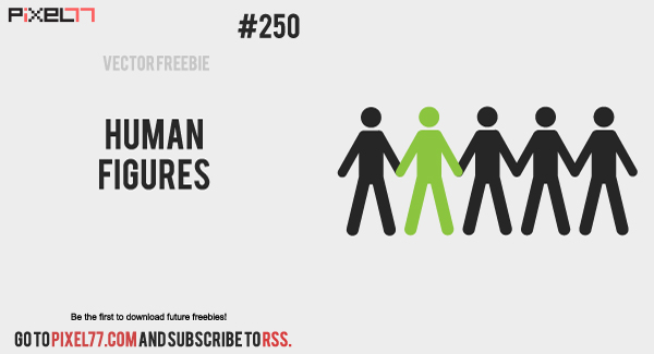 free vector Human Vector Figures - Free Vector of the Day #250