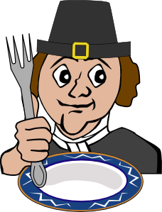 free vector Hungry Pilgrim clip art