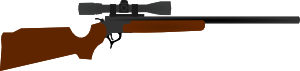 free vector Huting Rifle With Scope clip art