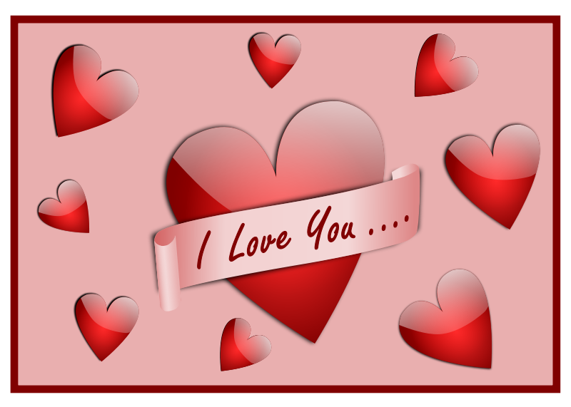 I Love You Card Free Vector / 4Vector