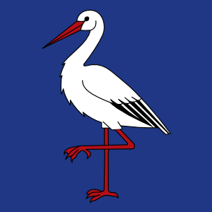 free vector Ibis Bird Wipp Oetwil Am See Coat Of Arms clip art