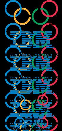 free vector IBM Olympic games logoA