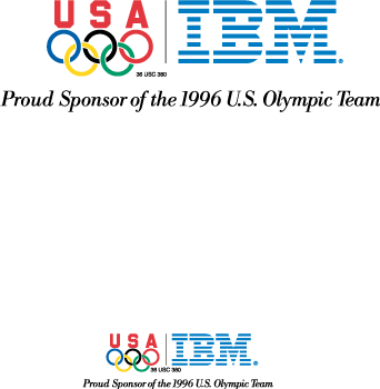 free vector IBM Olympic games logoB