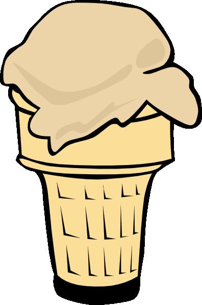 free vector Ice Cream Cone (1 Scoop) clip art