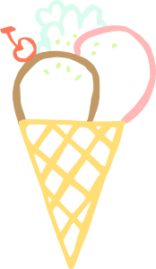 free vector Ice Cream Cone clip art